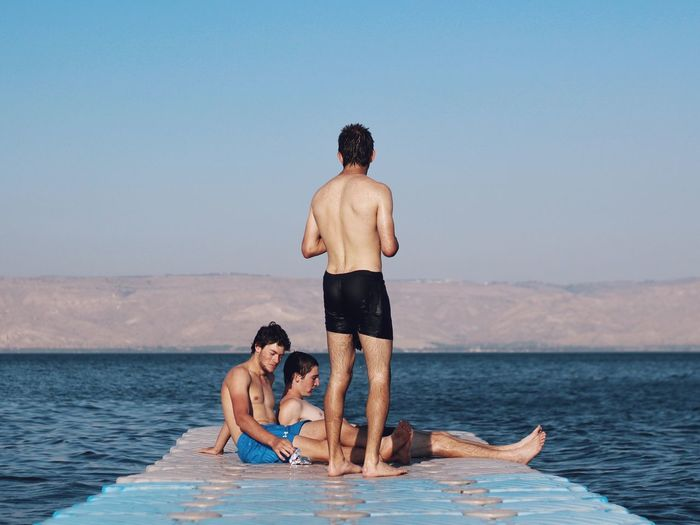 The boys Sea Boys Guys Youth Holiday Vacation Swimming Relaxing Enjoying Life World Photo Day Enjoy The New Normal מייכינרת My Year My View Live For The Story The Great Outdoors - 2017 EyeEm Awards