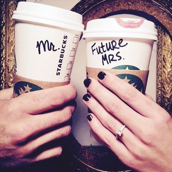 Mr with future Mrs. Mr And Mrs Starbucks Coffee Coffee Love Ring Happiness