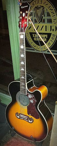 Guitare Guitar Acoustique Acoustic Folk Steel Strings EpiphoneGuitars Epiphone