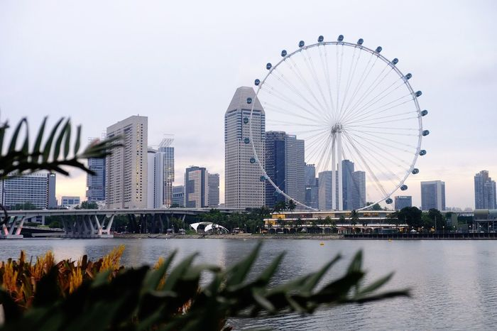 Landmarks Iconic Landscape Landmarks Day Light Travel Destinations Singapore Tourist Attraction Singapore Architecture Singapore Life City View  Foreground And Background Detail Singapore Photos Singapore Photography Singapore Landmark Singapore Flyer Singapore View Built Structure Architecture Building Exterior City Sky Building Ferris Wheel Travel Destinations Office Building Exterior Tourism No People
