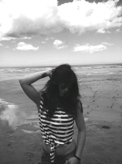 Natural Beauty Enjoying Life Feelfree Pure Beauty Amazing View Black And White Beach Photography Beach Life Sunglasses That's Me