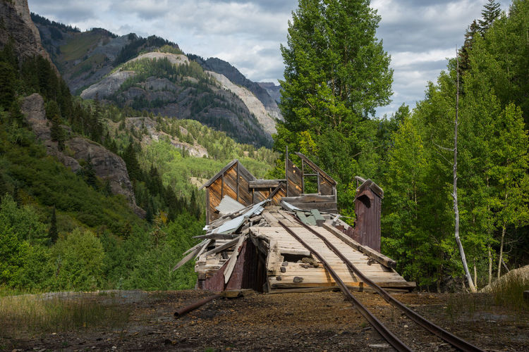 Sep 2018 Railroad Track Abandoned Places Architecture Beauty In Nature Built Structure Day Forest Ghost Town Gold Mining Mining Mountain Mountain Range Nature No People Outdoors Plant Scenics - Nature Tranquil Scene Tree Wood - Material