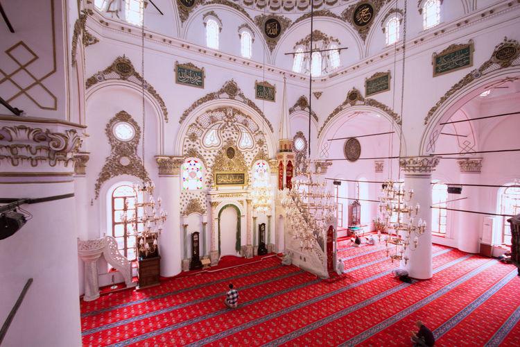 Mosque, Turkey. Turkey Travel Destinations Traveling Travel Destinations Traveling Religion Place Of Worship Arch Ornate History Architecture Built Structure Ceiling Architecture And Art Mosaic Architectural Design