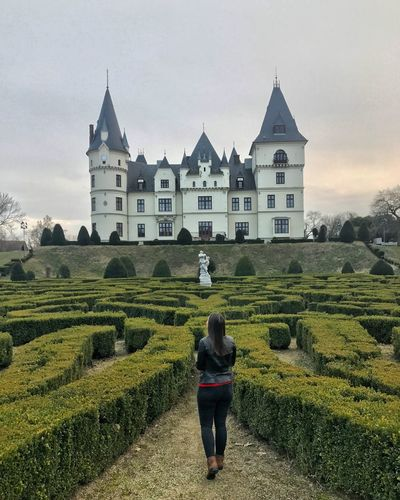 🏰👩🏽 Castle Labirinth Tiszadob Hungary Walking Architecture Building Exterior Rear View Sky Built Structure Agriculture Outdoors Travel Destinations One Person Women Real People Adult Beauty In Nature Day