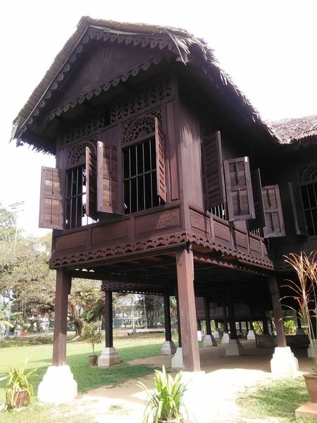 Traditional Malay House Architectural Column Architecture Building Exterior Built Structure Day House On Tilt Kedah Kedah Malaysia No People Outdoors Traditional Traditional Malaysian Culture Tree Vernacular Architecture