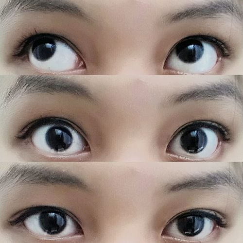 Three expressions Eyes Blackeyes LoveYourself Expression No Idea Suprised Mehh