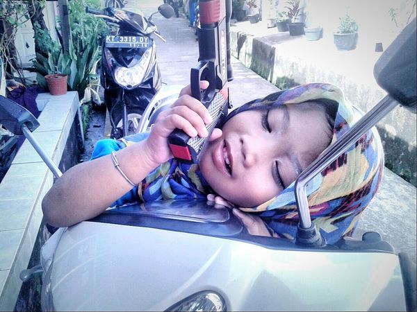 Rizki Indah MJ. Littlegirl Cute Girl Cute Kids So Cute Beautiful Kid Shooting Sleeping