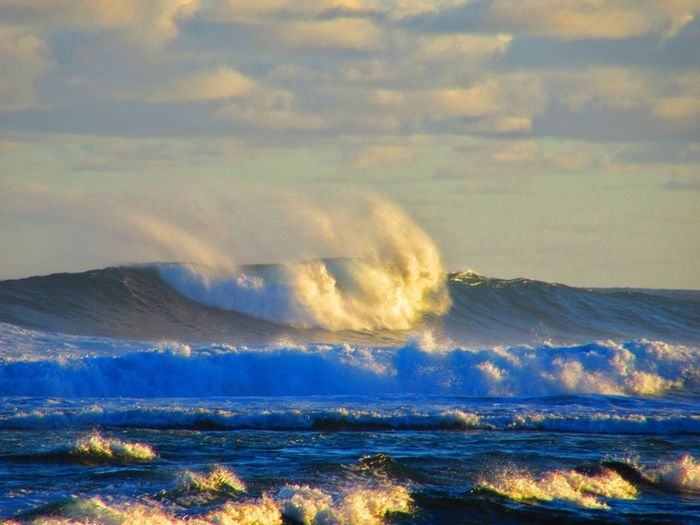Scenics Beauty In Nature Tranquil Scene Mountain Tranquility Nature Sky Water Sea Cloud - Sky Wave Non-urban Scene Majestic Cloud Shore Outdoors Day Cloudscape Tourism Remote An Eye For Travel