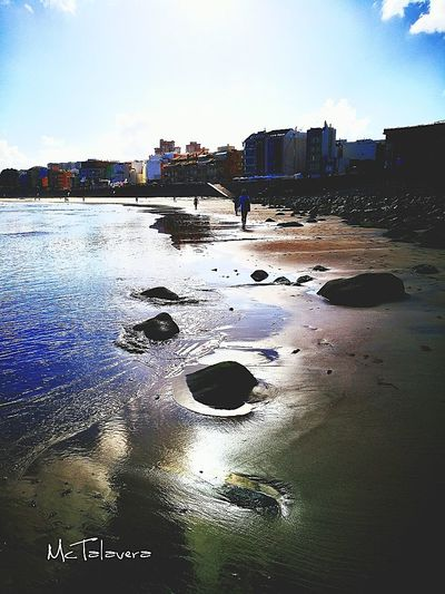 Playa de Las Canteras Beach 😎 Water Beach Reflection Sand Sky