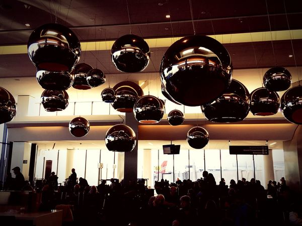 Globes Silver Balls Silhouettes