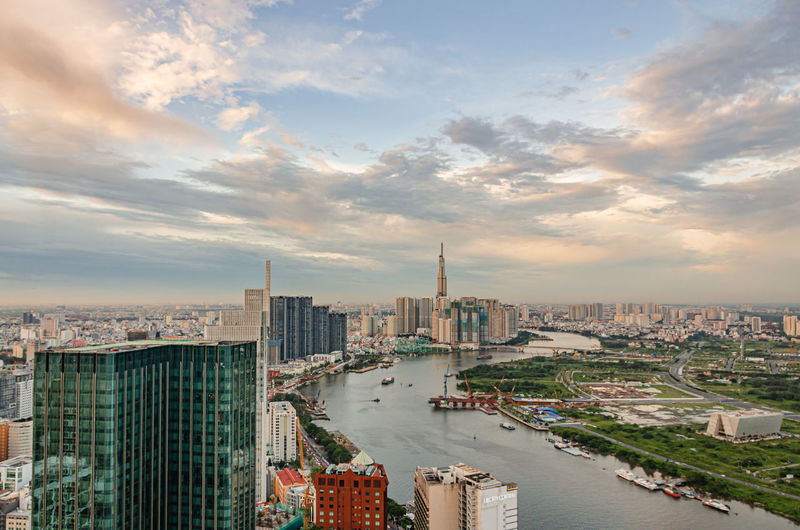 View by saigon skydeck at ho chi minh