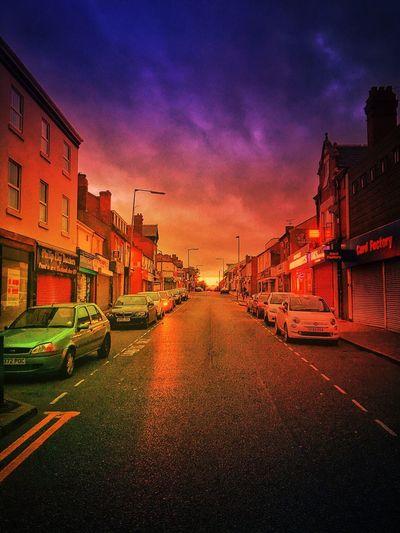 Street Nights... My High Street High Street My Town TOWNSCAPE Sandwell Evening Evening Sky Evening Glow