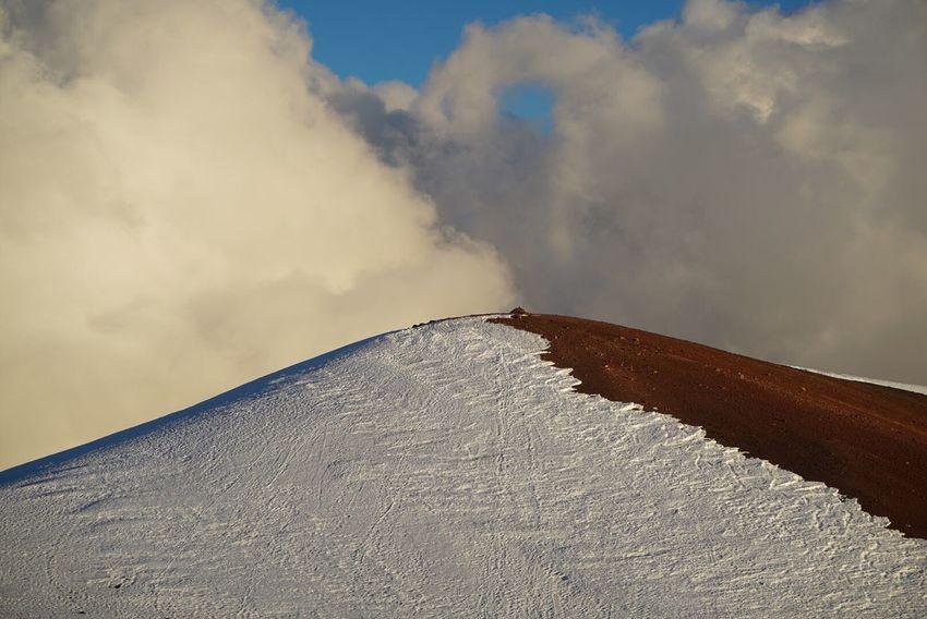 Sky Day Outdoors Cloud - Sky Nature No People Industry Scenics Beauty In Nature Salt - Mineral Sand Dune Salt Basin Mountain Mauna Kea Hawaii Top Of The Mountains Top View Top Snow Snow Mountain Snow Of Hawaii Mountain Peak Mountain Top Mauna Kea Top