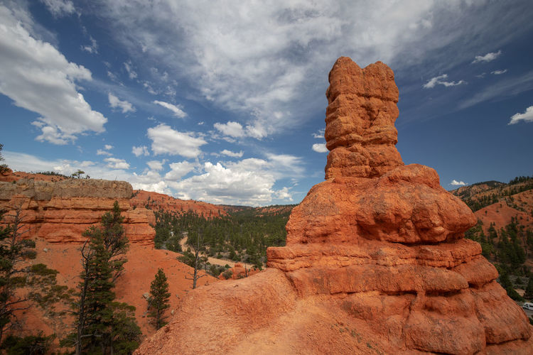 Red Canyon in Utah, USA - the smaller brother of the world famous Bryce Canyon Cloud - Sky Non-urban Scene Beauty In Nature Scenics - Nature Tranquil Scene Red Canyon Red Canyon State Park, Utah USA National Park Rock Formation Rock Rock - Object Geology Physical Geography Solid Landscape Mountain Travel Destinations Travel Low Angle View Eroded Formation Arid Climate Climate Mountain Peak