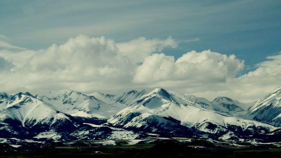 Mountain Snow Winter Cloud - Sky Scenics - Nature Beauty In Nature Cold Temperature Mountain Range Snowcapped Mountain Sky Tranquil Scene Tranquility No People Nature Landscape Outdoors Non-urban Scene