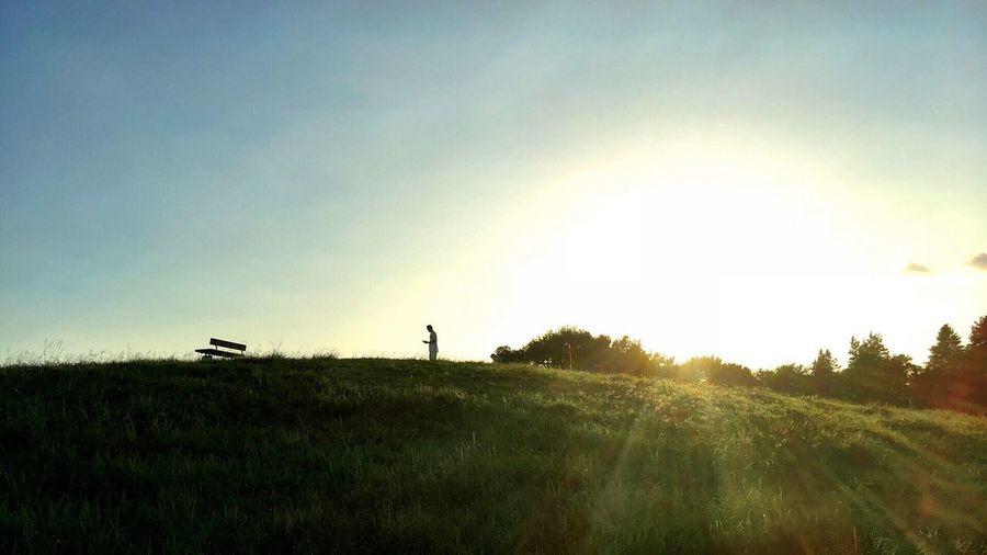 祈り Praying Crying Scenics Tranquility Tranquil Scene Landscape From My Point Of View Summer Sunset_collection Sunset Silhouettes Sunset