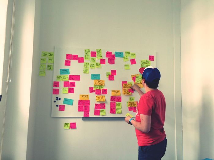 Mimihearing Startup Office Post Its Creative Mind Working Cluster Colors Berlin