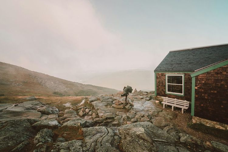 Morning at Lakes Of The Clouds Hut - White Mountains , New Hampshire