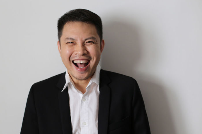 :D Asian  Casual Clothing Expression Face Happy Headshot Joy Laughing Lifestyles Man Men Person Portrait The Portaitist - 2016 Eyeem Awards Toothy Smile Natural Light Portrait Love Yourself This Is My Skin