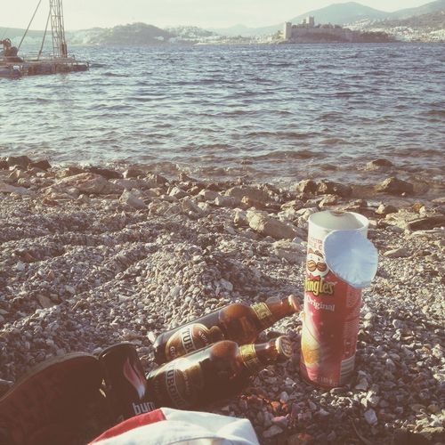 Bodrum Kale Drinking Beer Pringles Hope