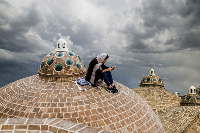 Here is the Roof of Soltan Amir Ahmad Bathroom in Kashan and i did photography of people who come to visit and they took all selfies or pictures for their social media ,people always have change in Social life and outside here, in Outside you have to UN-comfort because of police ask you about hijab and you have to wear always but nowadays woman didn't like hijab at all. Iran Iranian Iranian People Iran♥ Kashan People Sky Sky And Clouds Soltan Amir Ahmad Bathroom Streetphotography The Great Outdoors - 2017 EyeEm Awards The Photojournalist - 2017 EyeEm Awards The Portraitist - 2017 EyeEm Awards The Street Photographer - 2017 EyeEm Awards The Architect - 2017 EyeEm Awards Neighborhood Map EyeEmNewHere BYOPaper! Live For The Story Place Of Heart Sommergefühle Mix Yourself A Good Time EyeEm Ready   Press For Progress Press For Progress The Great Outdoors - 2018 EyeEm Awards