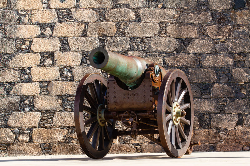 A old canon gun outside a fort in Lanzarote. A nice rust and glow from an ancient artefact Brick Wall Canary Islands Canon Canon Ball Close-up Fort Gun Cart Gun Metal Ironwork  Lanzarote Outdoors Rust Spain♥ Wheel