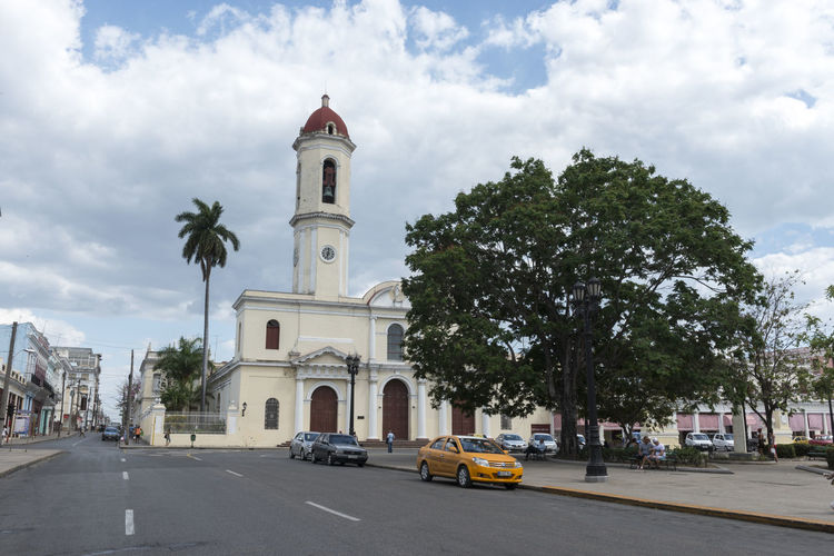 Purisima Concepcion Cathedral in Jose Marti Park, the UNESCO World Heritage main square of Cienfuegos, Cuba Cathedral, Cienfuegos Cityscape Cuba Collection Cuba, EyeEm EyeEm Best Shots Jose Martin Square Landscape Streetphotography