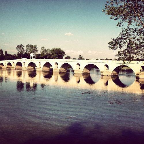 Edirne Karaagac Mericriver Instagood igers igmania onlyiphone iphoneonly reflection river brigde stonebridge