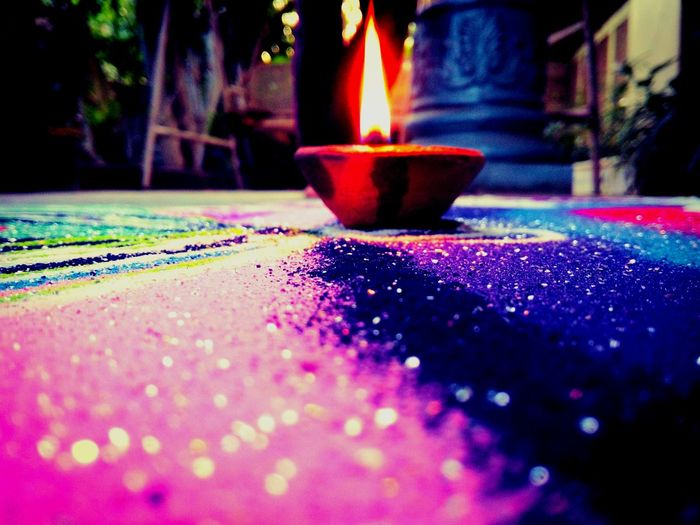 Lamp Close-up Outdoors Day No People Art Rangoli RangoliArt Phone Photography Millennial Pink