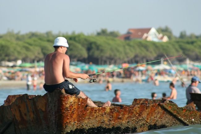 Nofilter Abandoned Ship Fisherman Fishing Beach Summer Canon450d People Nature