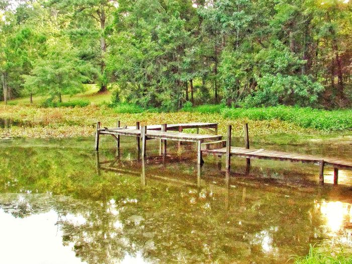 Day No People Outdoors Nature Water Boat Deck Boat Dock Cloud Reflections Textured  Wooden Deck Wooden Dock Dock In The Water Old Wood Wood Structure Old Wooden Structure Walkway Walkway Over Water Rotten Wood Lake Copiah Mississippi  Rural Scene Calm Water Relaxing Scene Waterscape Countryside