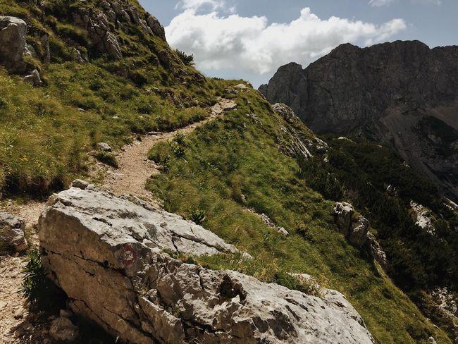 Alpine road, Kamnik-Savinja Alps in Slovenia, 2017. Kamnik-Savinja Alps Grintovec Slovenia Alps IfeelsLOVEnia Hiking Trekking Mountain Rock - Object Nature Tranquility Beauty In Nature Scenics Landscape Outdoors