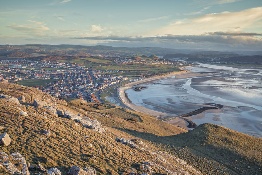 Scenic Coastal Town in North Wales Coastline Light View Wales Aerial View Beauty In Nature Cloud - Sky Coastal Day Great Orme Headland Hill Landscape Low Tide Mountain Nature No People Outdoors Scenics Sky Sunset Town Tranquil Scene Tranquility Water