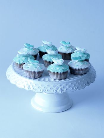 Baked Goods Baking Blue Butterfly Cupcakes Food Food And Drink Foodphotography No People