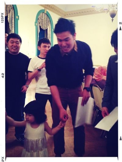 My boyfriend will be a good father. Haha