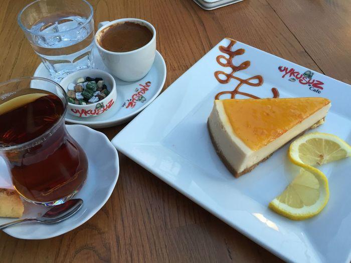Cheesecake Tee and Turkishcoffee Foodporn