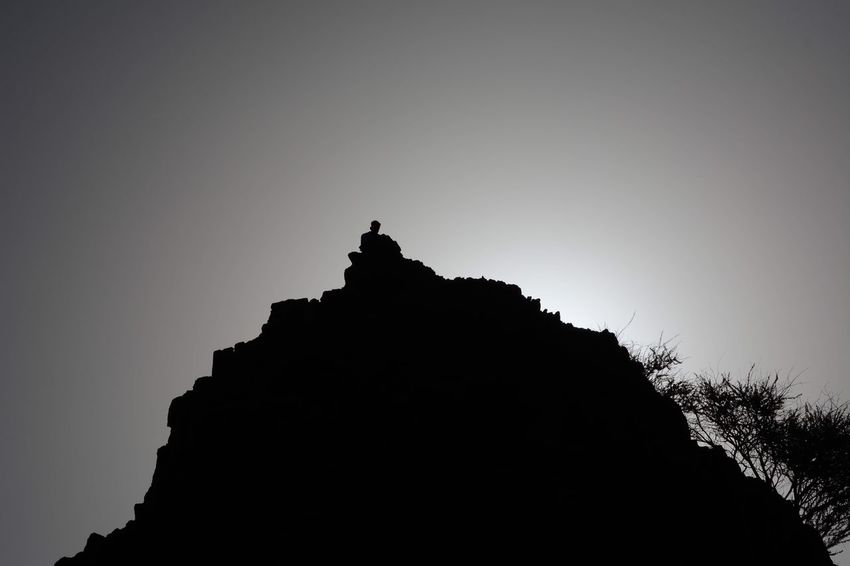 Shadow Sky Silhouette Clear Sky Low Angle View Nature Rock Rock - Object Outdoors Mountain Peak