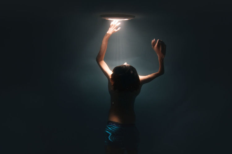 Dream Light Swimming Blue Boy Child Photography Human Arm Illuminated One Person Swimming Pool Underwater Water