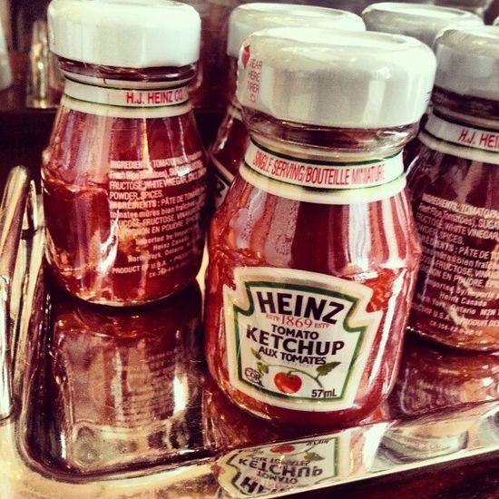 Mini Ketchups! Socute Ketchup Heinz Breakfast Love