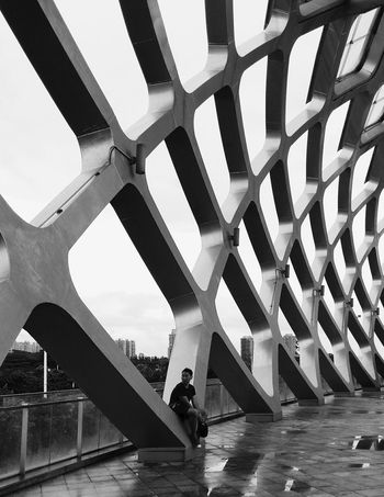 Built Structure That's Me! Black & White Shenzhen.China Gym Breathing Space