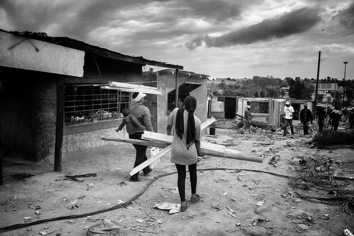 Rebuild Township Johannesburg Kyasands Afterfire