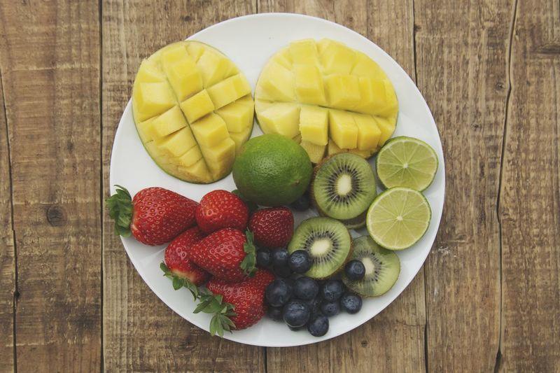 Flat lay fruit