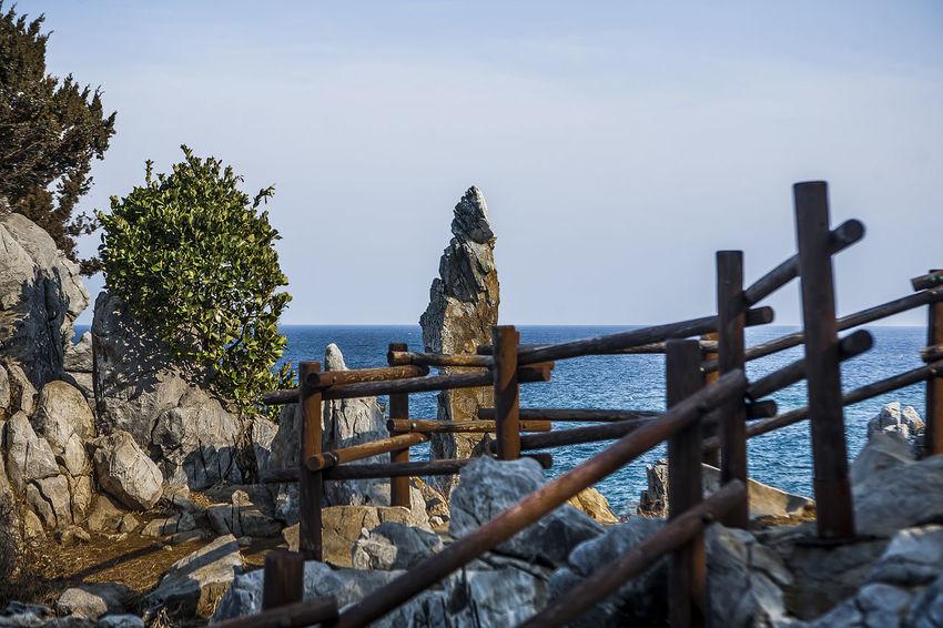 Cheuam Beach Chotdaebawi Coast Surge South Korea Korea Winter Sea East Sea Samcheok Rock