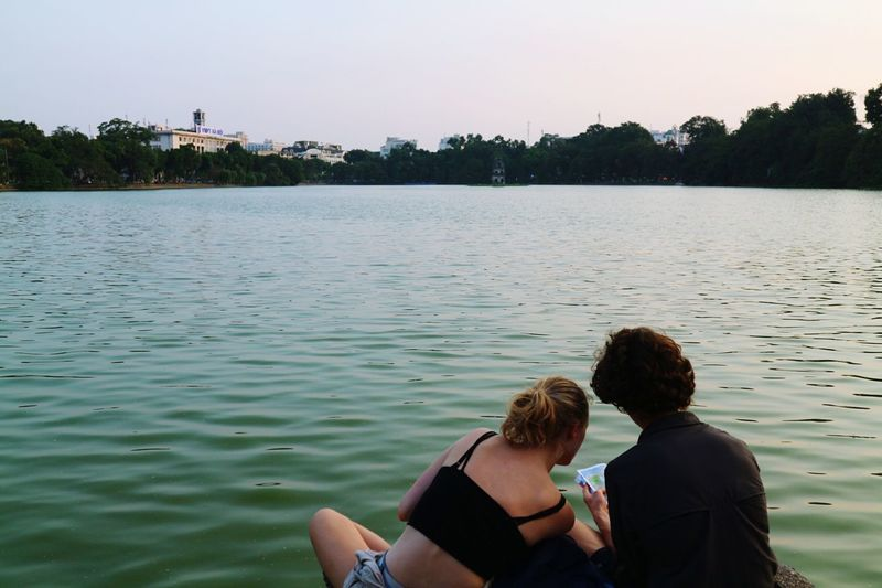 During my time in Hanoi, Vietnam Two People Water Togetherness People Lake Vacations Adult Adults Only Hanoi Vietnam  Hanoilake Travel Destinations Frommypointofview Eyeem Couples Finding New Frontiers