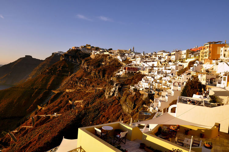 santorini grecia Grecia Santorini, Greece Architecture Building Exterior Built Structure City Clear Sky Day House Mountain Nature No People Outdoors Residential Building Roof Sky Town Turismo Isla