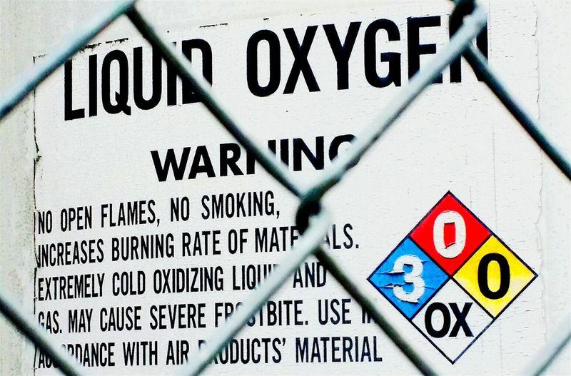 Warning Liquid Oxygen Flammable Hazardous A Little Bit Of Color