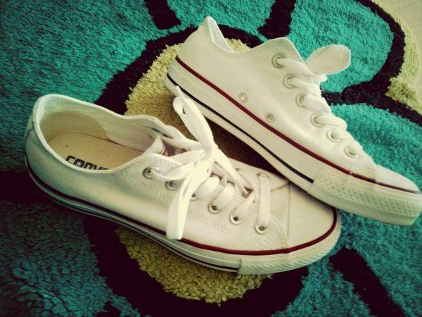 white converse <3 Converse Shoes Fashion Confortable