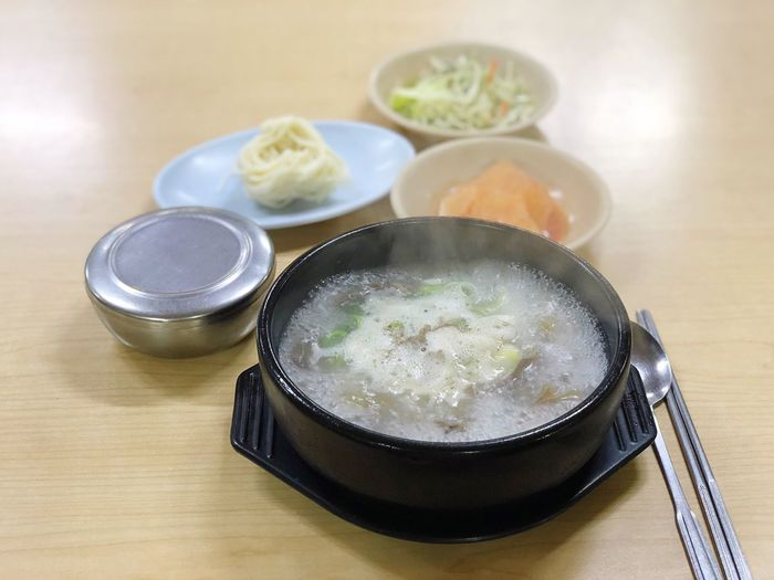 국밥 Kimchi!!!!! Korean Food Food And Drink Food Bowl Table Healthy Eating Indoors  Still Life No People Freshness Ready-to-eat Plate Rice - Food Staple High Angle View Soup Close-up Meal Day