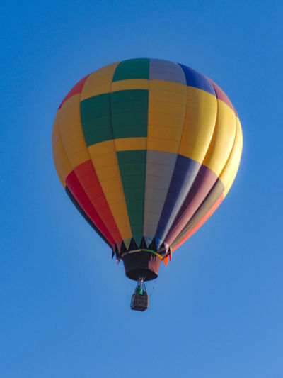 Hot Air Balloon Multi Colored Flying Adventure Blue Mid-air Transportation Air Vehicle Ballooning Festival Fun Sky Day Clear Sky Outdoors Helium Balloon No People Ballons In The Sky Fig Ball León, Guanajuato Globos Aerostaticos Globos Figuras