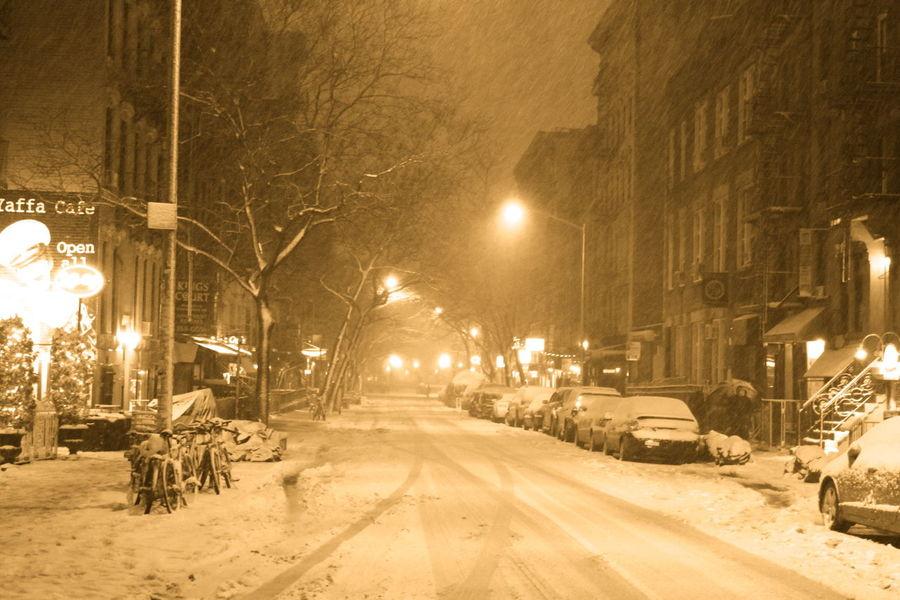 East Village New York New York City Snow Storm 2013 Nemo St. Marks Place